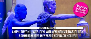 "Theater: ""Amphitryon"" im Sommertheater Webers Hof in Leipzig"
