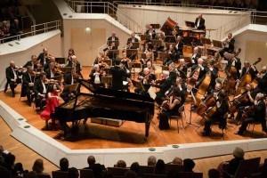 Klara Min bei ihrem letzten Auftritt in der Berliner Philharmonie