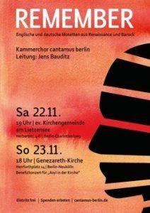 """""""Remember"""": Motetten der Renaissance im a-capella-Konzert mit cantamus Berlin"""