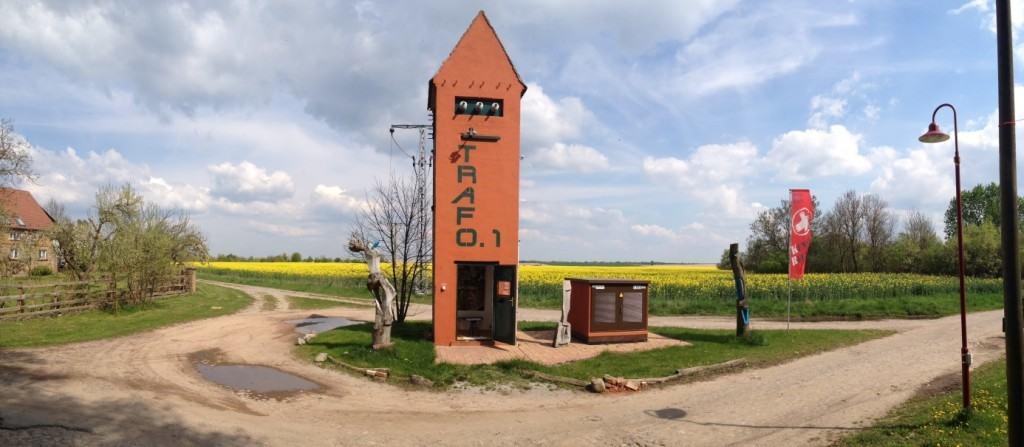 Trafo 1-3. kleinste galerien der Welt. Ein wunderschönes Kunst- und Architekturprojekt mitten in Brandenburg.