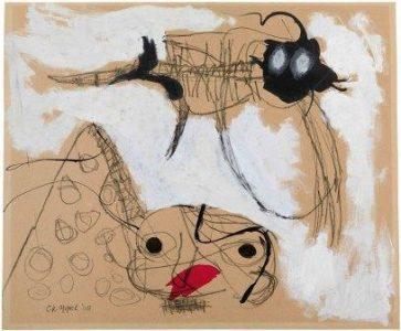 Karel Appel Grand oiseau (Großer Vogel), 1948 Guache, Bleistift und Tusche auf Papier, 45 x 54 cm © K. Appel Foundation / VG Bild-Kunst, Bonn 2016