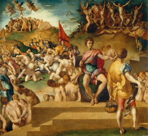 Jacopo Pontormo (1494–1557) Martyrium der Zehntausend, um 1529/30 Öl auf Holz, 67 × 73 cm Galleria Palatina, Palazzo Pitti, Florenz Foto: Su concessione del Ministero dei beni e delle attività culturali e del turismo