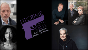 Live im Feuilletonscout. Online-Krimi-Festival LitCrime