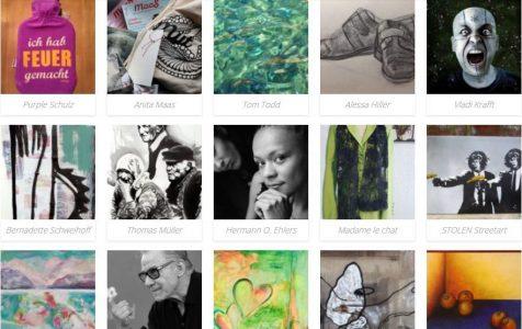 """Start der Auktion """"Kunst gegen Kälte"""", um Flüchtlingen zu helfen"""