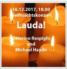Lauda! Weihnachtsstimmung mit Holzbläsern, Solisten und Chor