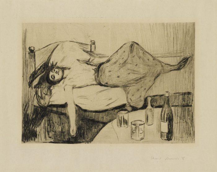Edvard Munch, Der Tag danach, 1894, Kunsthalle Bremen - Der Kunstverein in Bremen – Kupferstichkabinett, Foto: Die Kulturgutscanner Rosenau