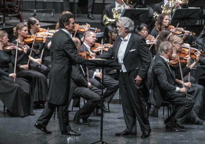 Luisa Miller 2019: Piotr Beczala (Rodolfo), Plácido Domingo (Miller), Mozarteumorchester Salzburg © SF/Marco Borrelli