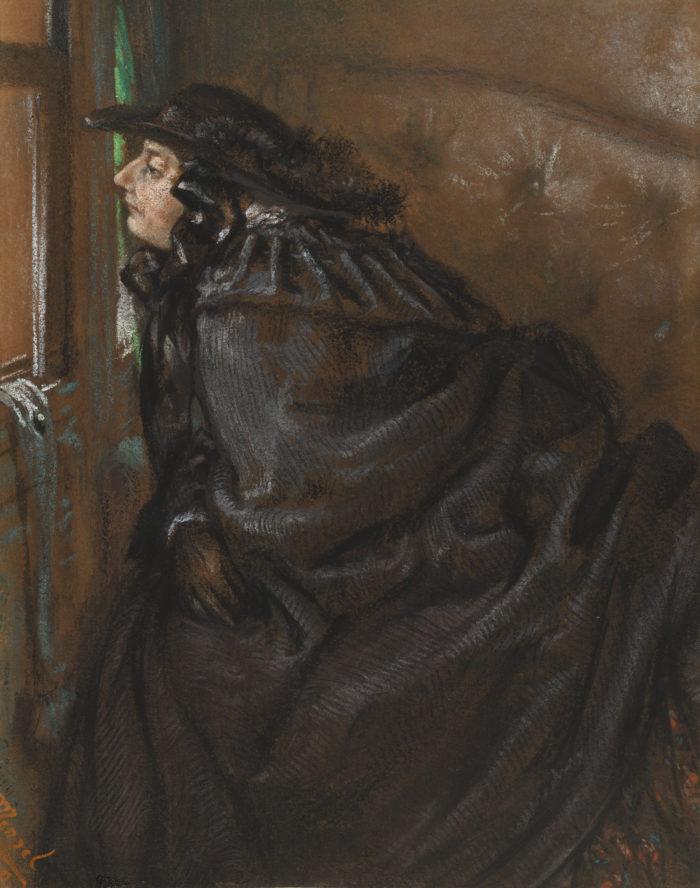 Adolph von Menzel Dame im Coupé