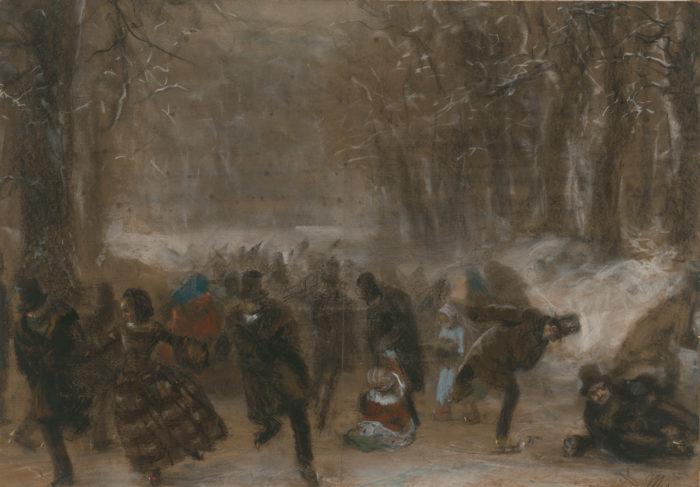 Adolph von Menzel Die Schlittschuhläufer